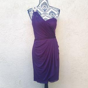 NWT Xscape one shoulder formal dress size …